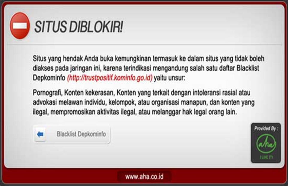 Blokir Website ala Kominfo