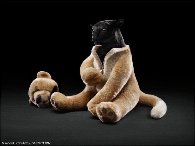 Macan dalam Kostum Beruang