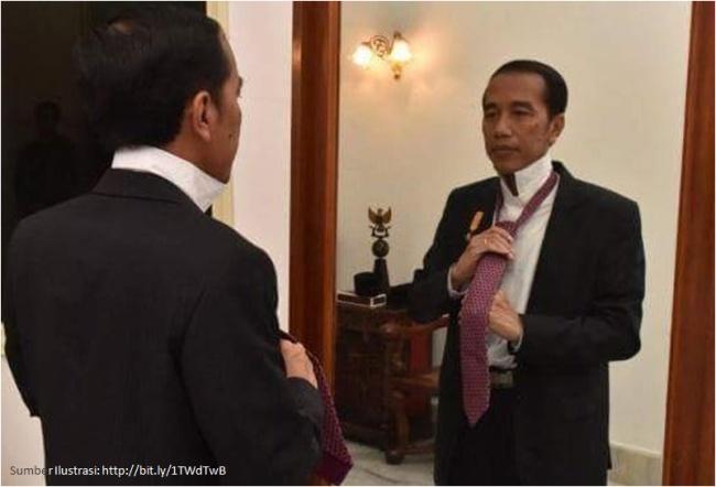 Presiden Joko Widodo Berkaca di Cermin
